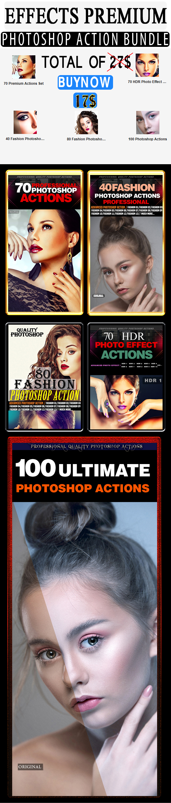 Effects  Photoshop Action Bundle - Photo Effects Actions