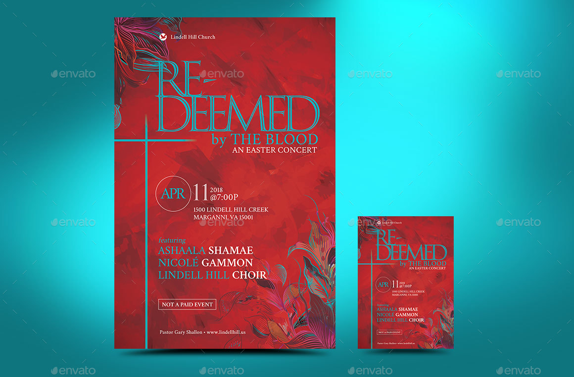 Redeemed Easter Flyer Poster Template