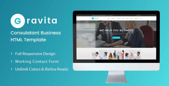 Image of Gravita - Finance & Consulting, Accounting HTML Template
