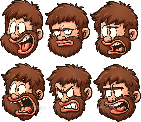 Caveman Emotions - People Characters