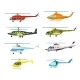 Helicopter Isolated Vector Set in Flat Design