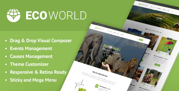 Eco World - Nature, Ecology & NGO WordPress Theme - Environmental Nonprofit