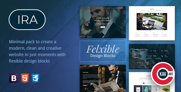 Creative One Page HTML Template - IRA - Corporate Site Templates