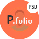P.folio - Portfolio PSD template - ThemeForest Item for Sale
