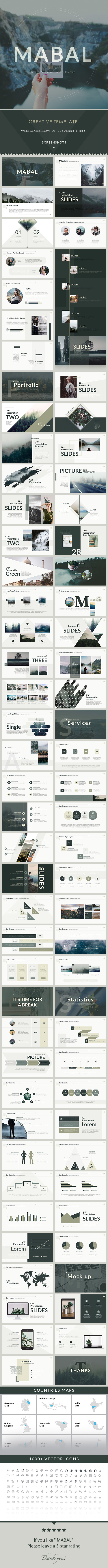 Mabal - PowerPoint Presentation Template - PowerPoint Templates Presentation Templates