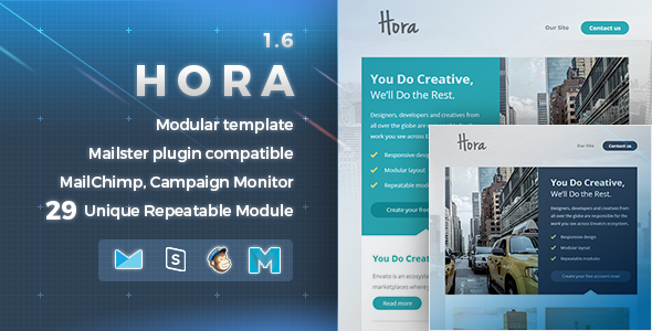 Hora | Responsive Email Template - Newsletters Email Templates