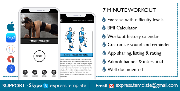 7 Minute Workout for iOS - CodeCanyon Item for Sale