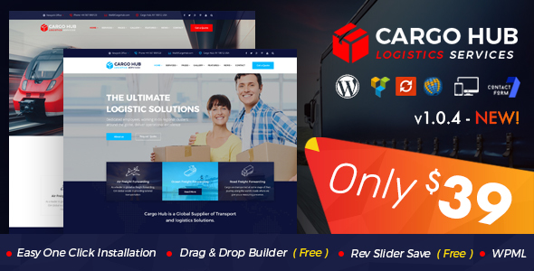 Cargo HUB - Transport WordPress Theme for Transportation, Logistics and Shipping Companies - Business Corporate