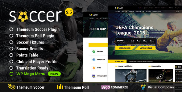 Soccer - Sport WordPress Theme for Football, Sport Club, Sport Team