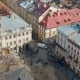 Aerial View Over the Streets of Lviv - VideoHive Item for Sale