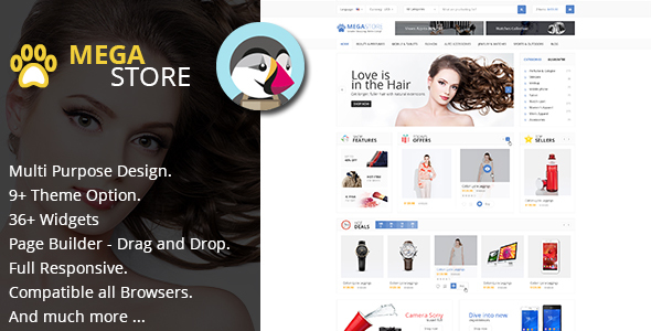Image of MegaStore - Multipurpose & RTL for PrestaShop 1.7.x Theme (9 Home)