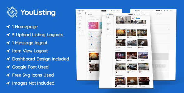 YouListing – Classified Listing and Directory Social Networking PSD Template