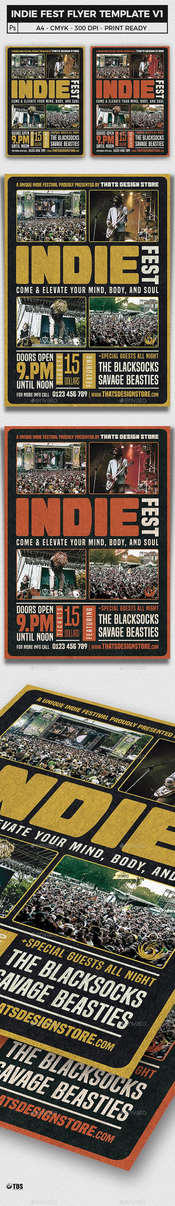 Indie Fest Flyer Template V1 - Concerts Events