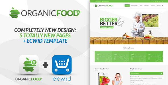 Image of Organic Food - Responsive Joomla Template
