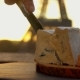 Hands Cutsing a Piece of Bresse Bleu Cheese - VideoHive Item for Sale