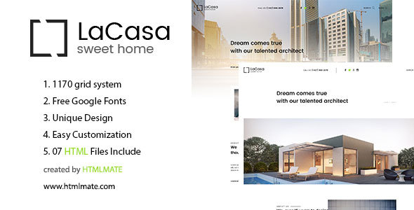 LaCasa – Real Estate HTML Template