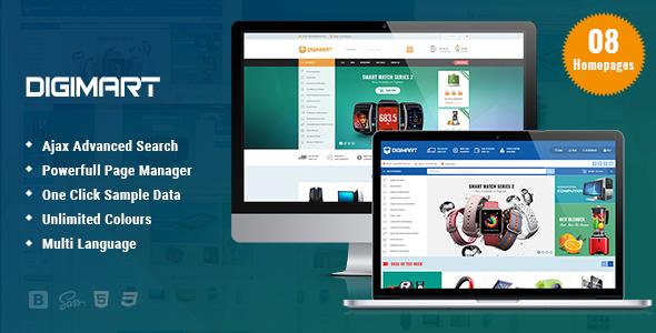 Image of Digimart - Facilitate Responsive PrestaShop 1.7 Theme For Digital Template