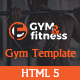 GYM & FITNESS | One Page Responsive HTML5 Gym Template - ThemeForest Item for Sale