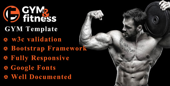 Image of GYM & FITNESS | One Page Responsive HTML5 Gym Template