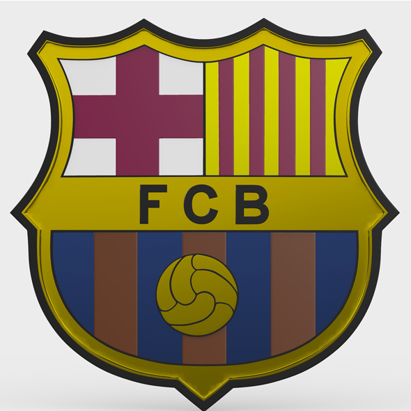 barcelona logo - 3DOcean Item for Sale