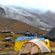 Expedition tents in the Annapurna Base Camp, Himalaya mountains, Nepal in a cloudy day - PhotoDune Item for Sale