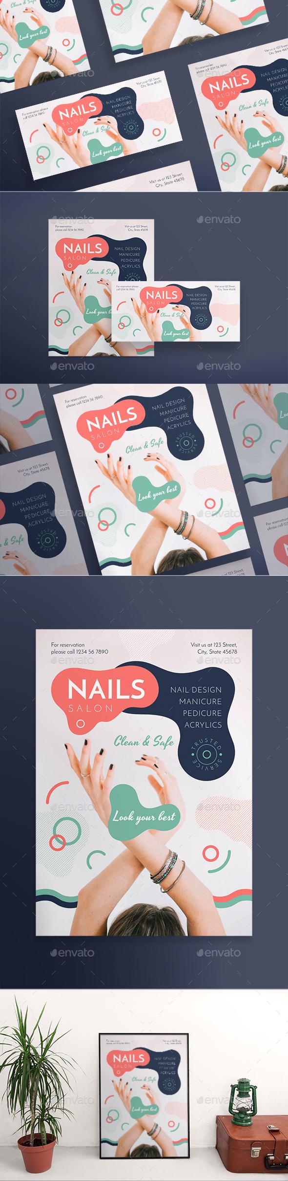 Nail Design Salon Flyers - Miscellaneous Events