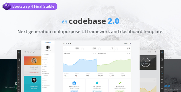 Codebase - Bootstrap 4 Admin Dashboard Template - Admin Templates Site Templates