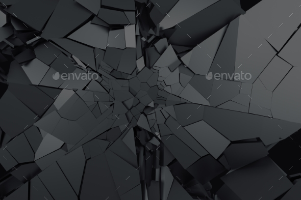 Abstract 3D Rendering. Cracked Surface. - 3D Backgrounds