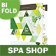 Spa Shop Bifold / Halffold Brochure - GraphicRiver Item for Sale