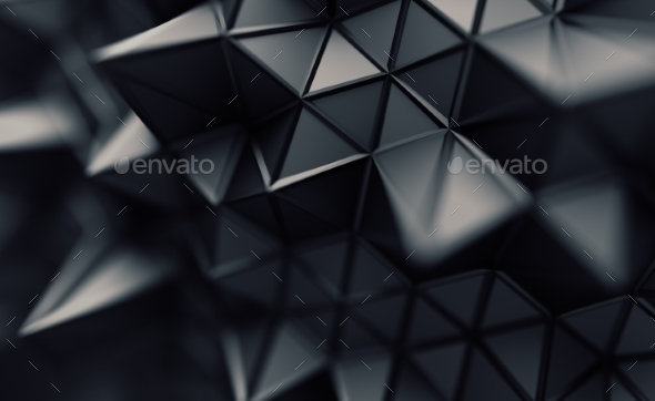 Abstract 3D Rendering. Polygonal Background. - 3D Backgrounds