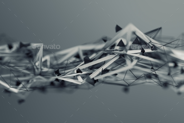 Abstract 3D Rendering. Polygonal Shape. - 3D Backgrounds