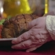 Woman's Hands, Puts Meat on the Table - VideoHive Item for Sale
