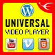 Universal Video Player - WordPress Plugin - CodeCanyon Item for Sale