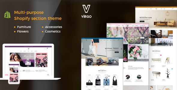 Image of Virgo - Shopify Furniture, Accessories, Bouquet, Beauty, Multipurpose theme