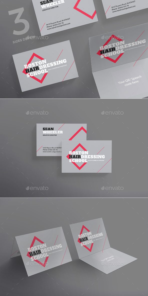 Hairdressing School Business Card - Corporate Business Cards
