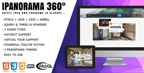 iPanorama 360° - jQuery Virtual Tour with Builder - CodeCanyon Item for Sale