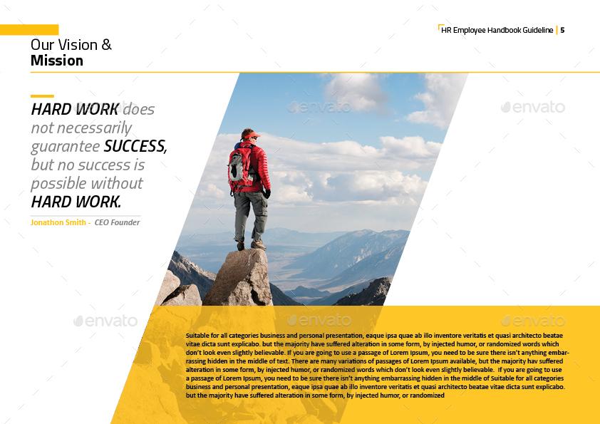 HR - Employee Handbook Guideline Template