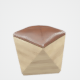 Hexagon Wood Ottoman-Chair