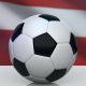 Soccer Ball with Latvia Flag