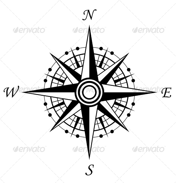 Compass symbol - Decorative Vectors
