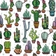 Seamless Pattern with Cactuses - GraphicRiver Item for Sale