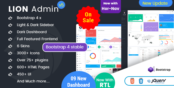 Image of Lion - Responsive Bootstrap 4 Admin Dashboard Template and WebApp Template