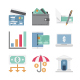 100 Banking and Finance Color Vector Icons Set