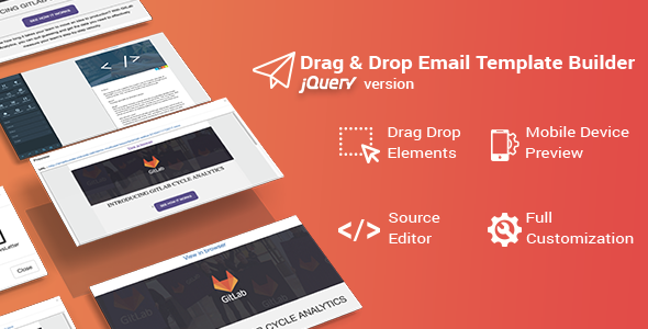 Drag & Drop Email Template Builder for jQuery - CodeCanyon Item for Sale