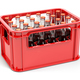 Bottles with soda or cola in the red strage crate for bottles. - PhotoDune Item for Sale