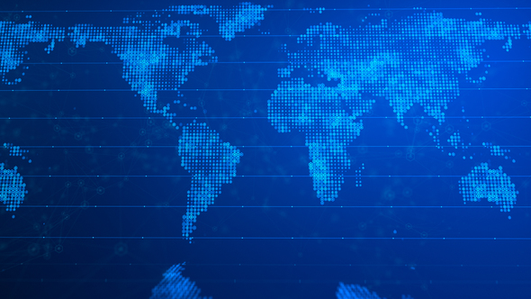 Digital world map background by walterlee videohive play preview video gumiabroncs Choice Image