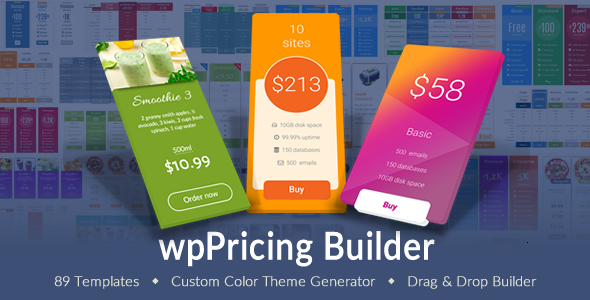 WP Pricing Table Builder - Responsive Pricing Plans Plugin for WordPress - CodeCanyon Item for Sale