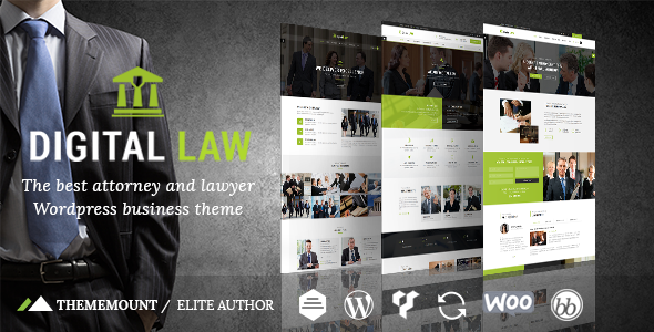 Image of Digital Law | Attorney, Lawyer and Law Agency WordPress Theme