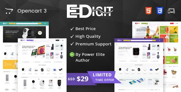 Image of eDigit - Multipurpose OpenCart 3 Theme