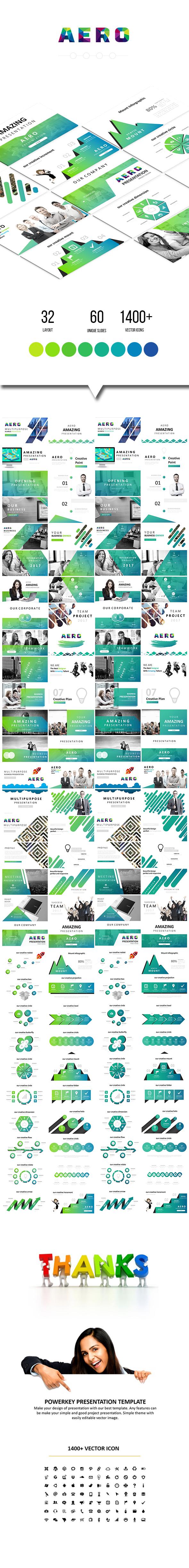 Aero - Multipurpose Keynote Template - Keynote Templates Presentation Templates